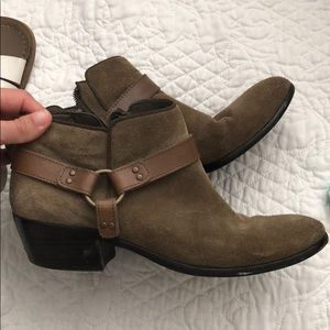Green Suede Sam Edelman booties